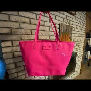 HOT PINK Kate Spade tote bag!